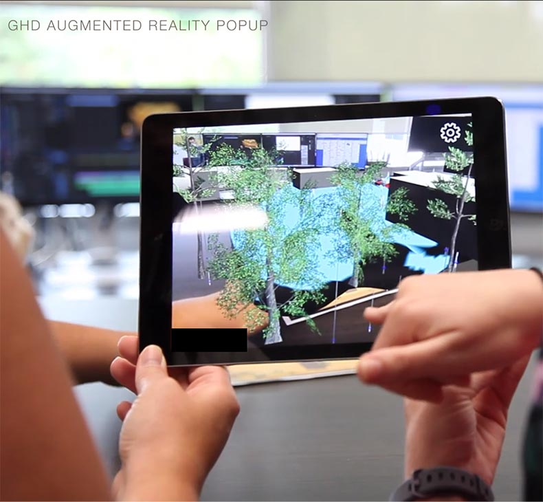 Augmented Reality PopUp App provides a new digital platform to visualize 3D models